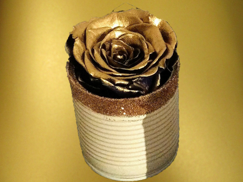 Gold Preserved Rose in small box